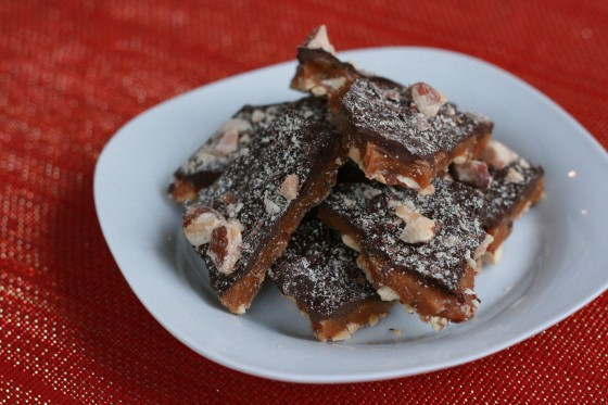 My Life as a Mrs. » Chocolate-Almond Buttercrunch Toffee