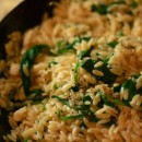 Lemony Spinach and Feta Orzo