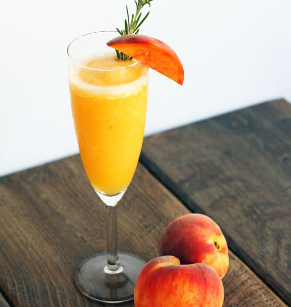 how to make a peach bellini frozen