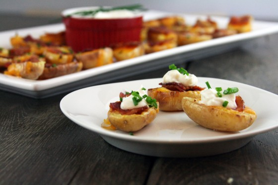 My Life as a Mrs. » Bacon Cheddar Potato Skin Poppers