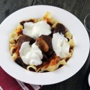 Pasta-with-Italian-Sausage-Meatball-Mushroom-and-Red-Wine-Tomato-Sauce