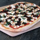 Sausage-Mozzarella-and-Basil-Pizza