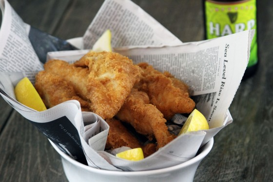 ... of beer battered fish. A squeeze of lemon and nothing else. Oh. baby