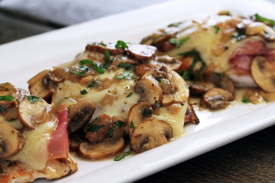 ... as a Mrs. » Prosciutto & Fontina Chicken with Lemon Mushroom Sauce