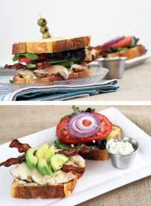 Bacon Avocado Chicken Sandwich with Garlic Basil Mayo