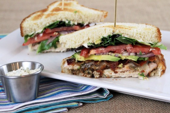 My Life as a Mrs. » Bacon Avocado Chicken Club with Garlic-Basil Mayo