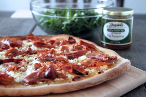 My Life as a Mrs. » Fig, Prosciutto, and Goat Cheese Pizza