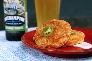 Fried Green Tomatoes with Jalapeno Tabasco Ranch {www.mylifeasamrs.com}