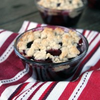 Individual Cherry Cobblers {My Life as a Mrs}