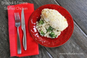 Broccoli & Fontina Stuffed Chicken {My Life as a Mrs}