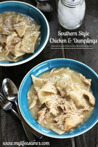 Southern Style Chicken & Dumplings {My Life as a Mrs}