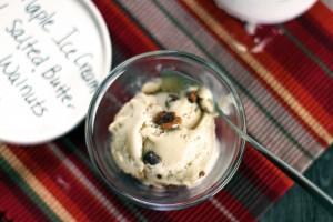 Maple Ice Cream with Salted Buttered Walnuts {My Life as a Mrs}