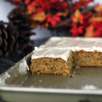 Pumpkin Bars with Cream Cheese Frosting {My Life as a Mrs}