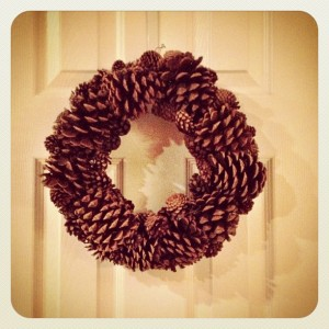 DIY Pine Cone Wreathe {My Life as a Mrs}