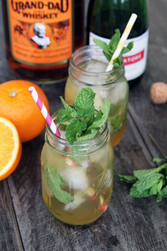 Citrus & Mint Bourbon Sparkler | My Life as a Mrs