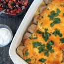 Mom's Easy Creamy Chicken Enchiladas | My Life as a Mrs