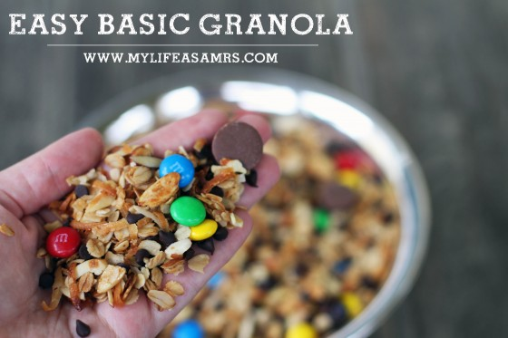 Easy Basic Granola | My Life as a Mrs