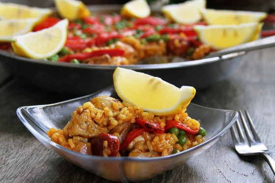 Chicken Pork & Chorizo Paella | My Life as a Mrs