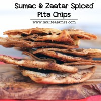 Sumac & Zaatar Spiced Pita Chips | My Life as a Mrs