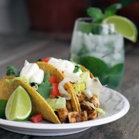 Easy Chicken &amp; Green Chili Tacos | My Life as a Mrs