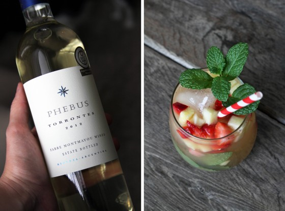Pineapple Strawberry & Mint White Wine Sangria | My Life as a Mrs