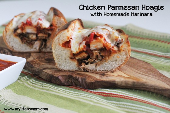 Chicken Parmesan Hoagies with Homemade Marinara | My Life as a Mrs