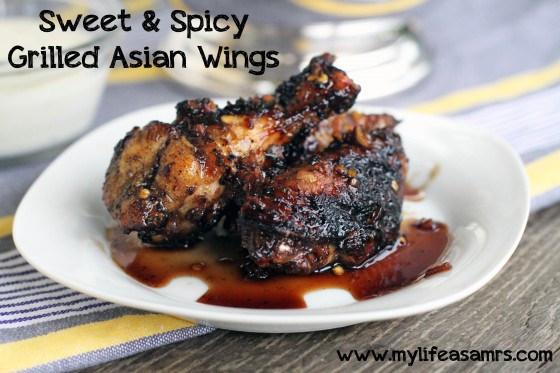 Sweet & Spicy Grilled Asian Wings | My Life as a Mrs