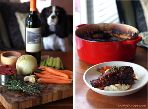 Red Wine Braised Short Ribs via My Life as a Mrs