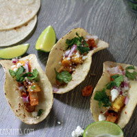 Tacos Al Pastor via My Life as a Mrs #tacos #pork #pineapple #recipe